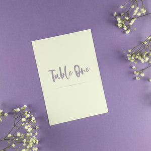 On The Day Essentials - Lilac Table Number Card