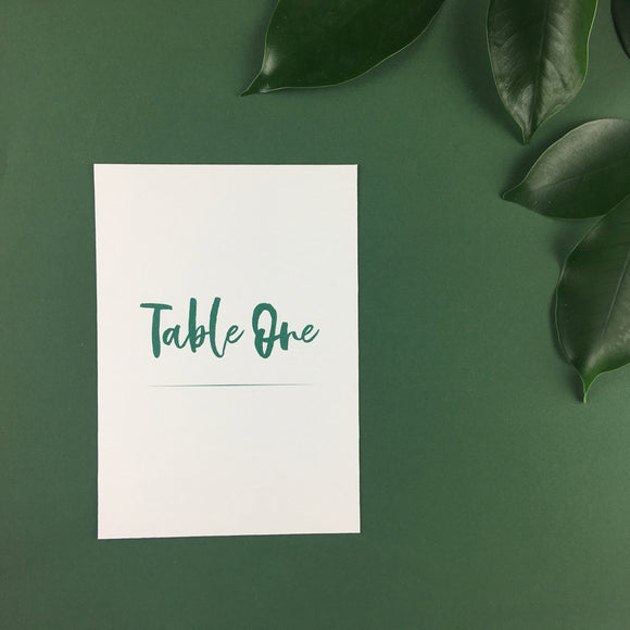 On The Day Essentials - Forest Green Table Number Card