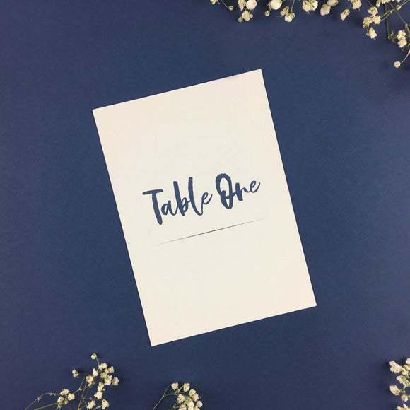 On The Day Essentials - Indigo Blue Table Number Card