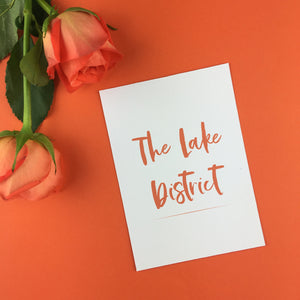 On The Day Essentials - Burnt Orange Table Name Card