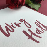 On The Day Essentials - Wine Red Table Name Card