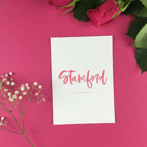 On The Day Essentials - Fuchsia Pink Table Name Card