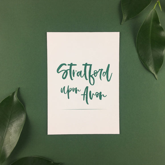 On The Day Essentials - Forest Green Table Name Card