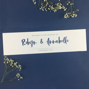 On the Day Essentials - Indigo Blue Table Plan Header Cards (2pk)