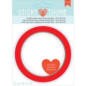 AC Double Side Tape - Super Sticky Red 6mm
