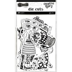 Dylusions Creative Dyary Dy-Cuts People