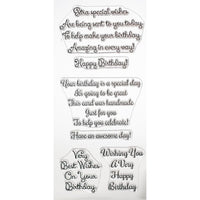 Phill Martin Stamp Set - Swirly Birthday Verses