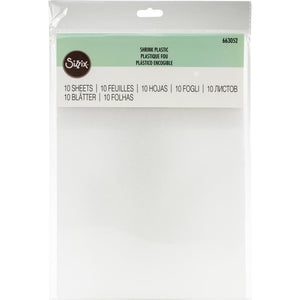 Sizzix Shrink Plastic A4 sheet - Pack 10