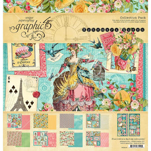 "Graphic 45 Paper Pack 12"" x 12"" - Ephemera Queen"
