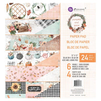 "Prima Paper Pad 12"" x 12"" - Pumpkin and Spice"