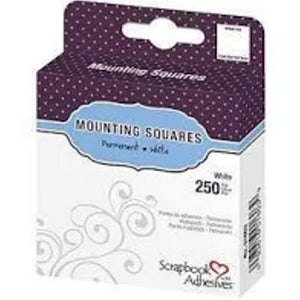 Scrapbook Adhesives Mounting Squares - Repositional White