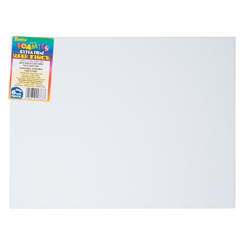 "Darice Foam Sheets 9"" x 12"" - Extra Thick White"
