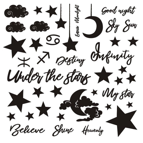 "13arts Chipboard set 12"" x 12"" - Under the Stars"