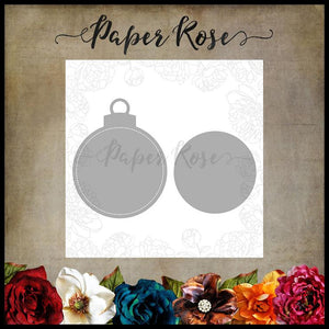 Paper Rose Die Set - Large Stitched Christmas Ornament