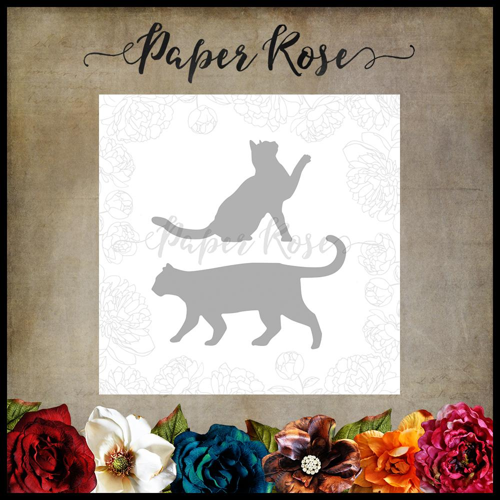 Paper Rose Die set - Two cats
