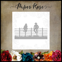 Paper Rose Die - Men Sitting on Fence