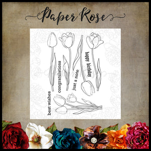 Paper Rose Stamp set - Tulips