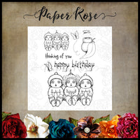 Paper Rose Stamp set - Snugglepot, Cuddlepie and Raggedy Blossom