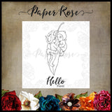 Paper Rose Stamp set - Snugglepot & Cuddlepie Hanging On