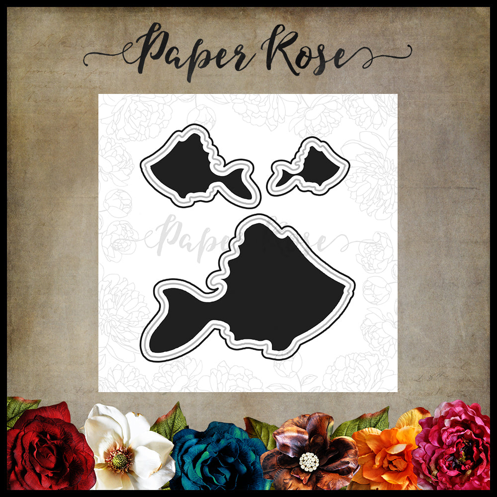 Paper Rose Die set - Fish Trio
