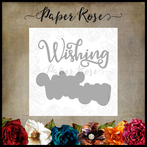 Paper Rose Die set - Wishing Layered