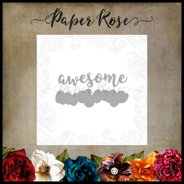 Paper Rose Die set - Awesome Layered