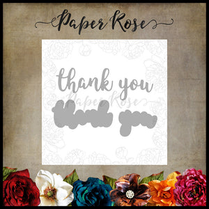 Paper Rose Die set - Thank You Layered