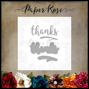 Paper Rose Die set - Thanks Layered