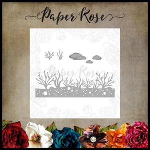 Paper Rose Die set - Under the Sea Border