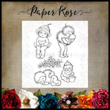 Paper Rose Stamp set - Bush Babies