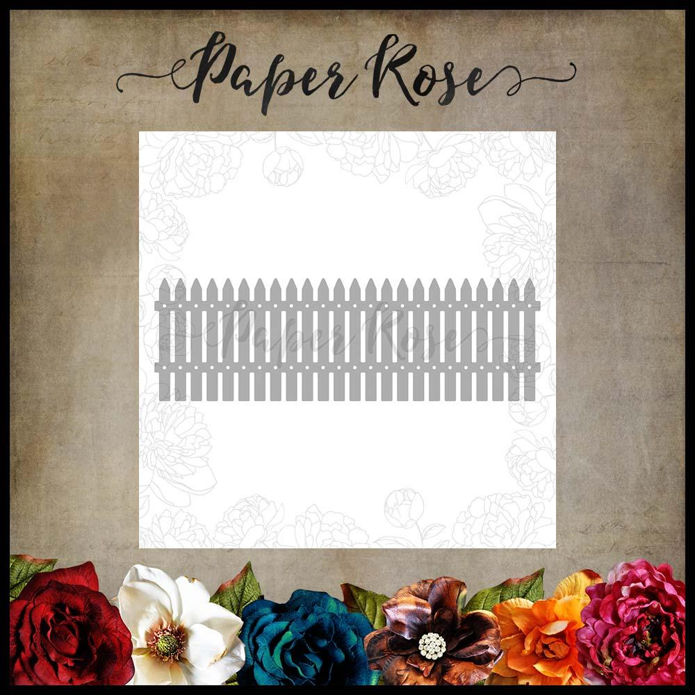 Paper Rose Die - Picket Fence
