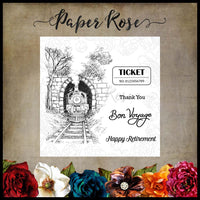Paper Rose Stamp Set - Through the Tunnel