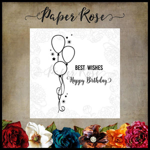 Paper Rose Stamp set- Birthday Wishes