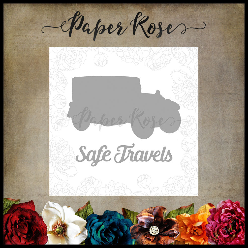 Paper Rose Die set - Vintage Car