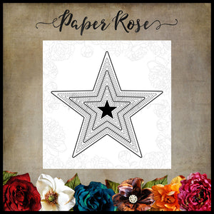 Paper Rose Die set - Stitched Stars