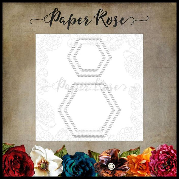 Paper Rose Die set - Hexagon Frames