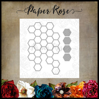 Paper Rose Die Set - Hexagon Stack