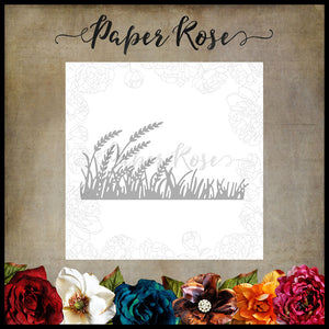 Paper Rose Die -  Wheat & Grass