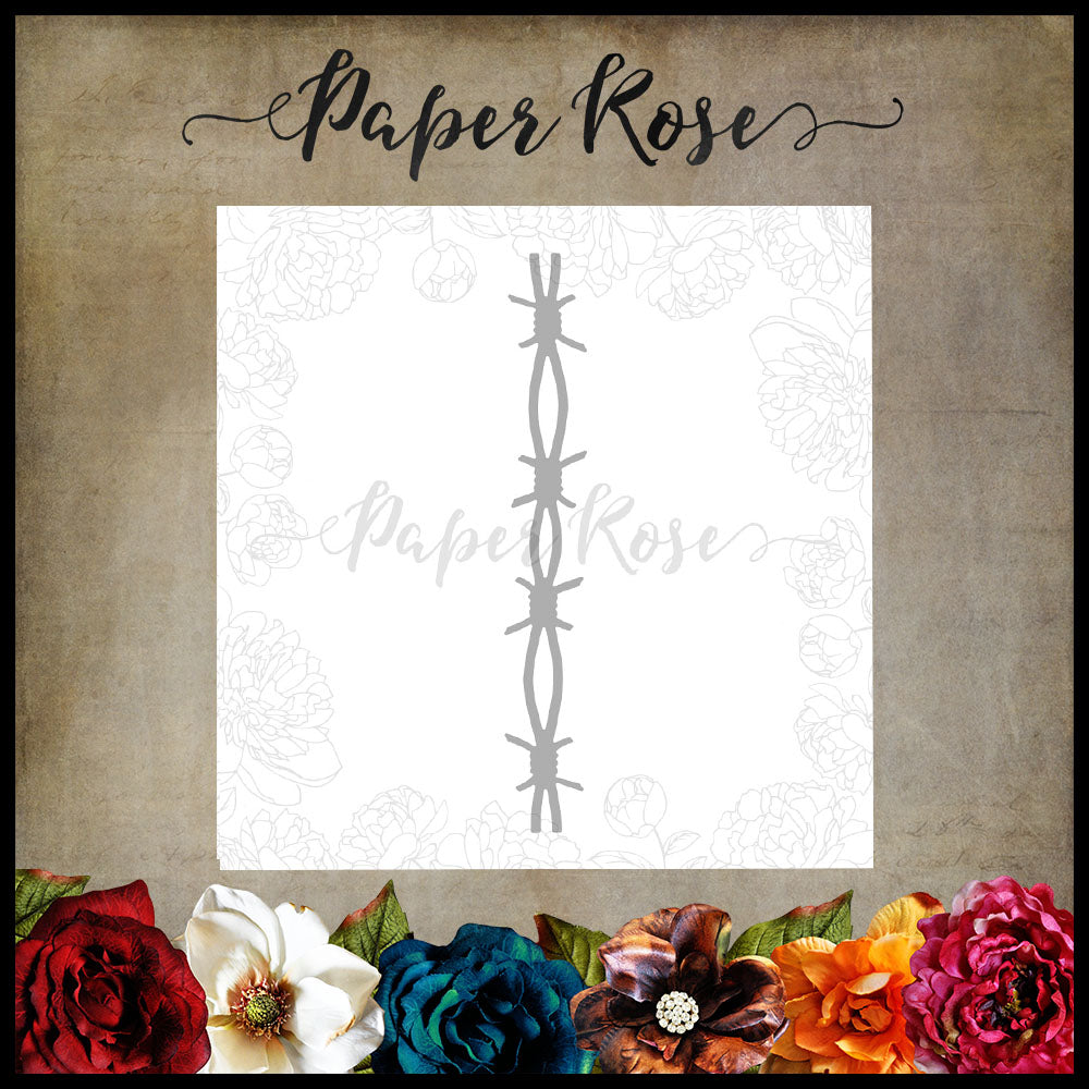 Paper Rose Die set - Barbed Wire Chunky