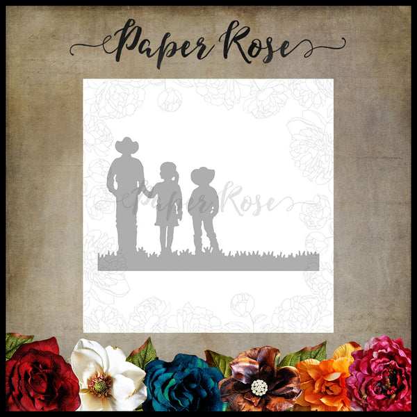 Paper Rose Die - Farmer with Children