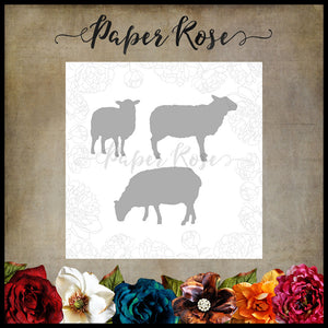 Paper Rose Die set - Sheep Family
