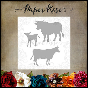 Paper Rose Die Set - Cow Family