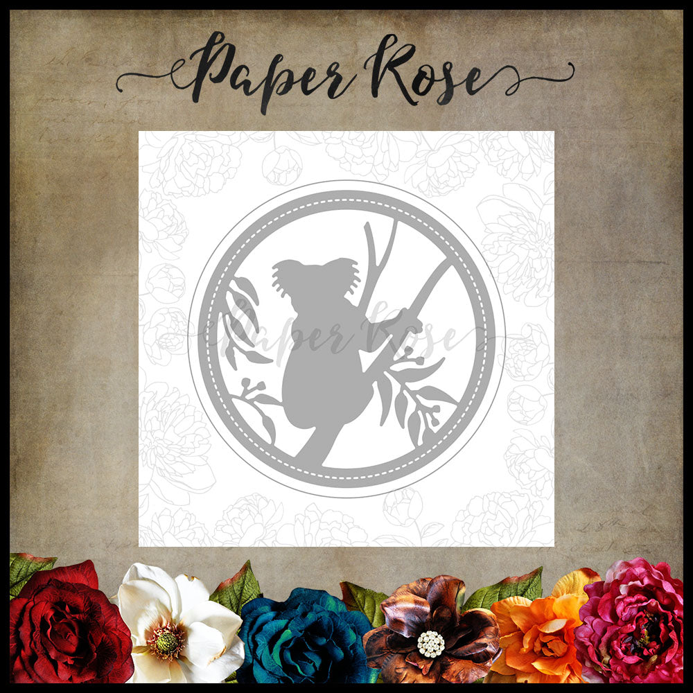 Paper Rose Die set - Koala in Tree