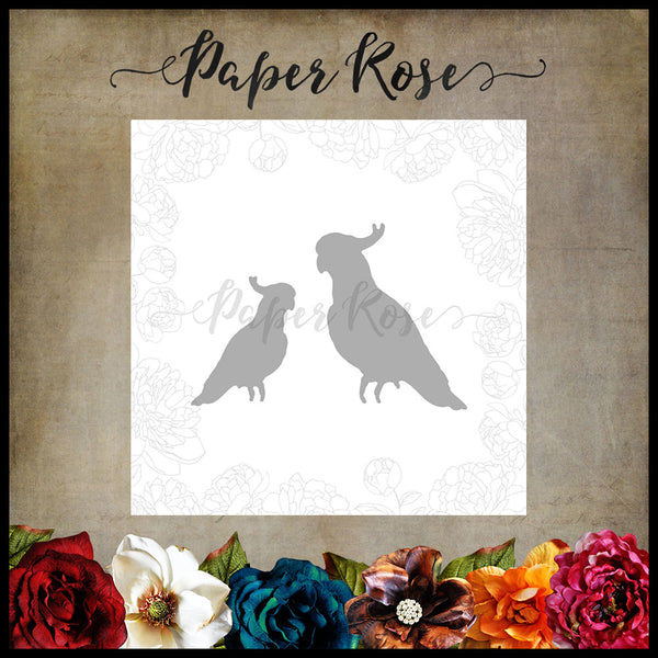 Paper Rose Die set - Cockatoos