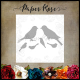 Paper Rose Die set - Lots of Birds