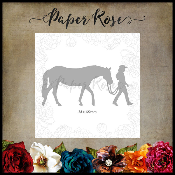 Paper Rose Die - Girl with Horse Large