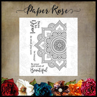Paper Rose Stamp set - Beautiful Mandala