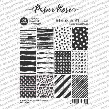 Paper Rose Paper Pack A5 - Black & White