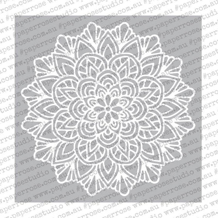 "Paper Rose Stencil 6"" x 6"" - Moroccan Lattice"