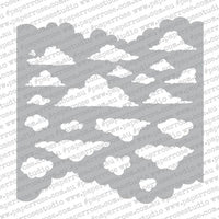 "Paper Rose Stencil 6"" x 6"" - Clouds"